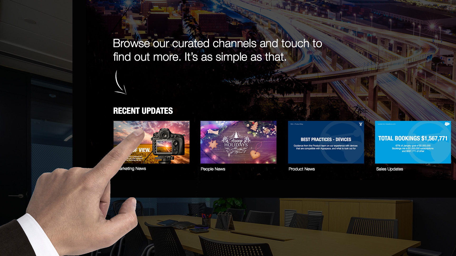 appspace app touch tv