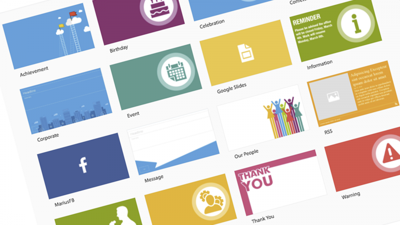 appspace card themes