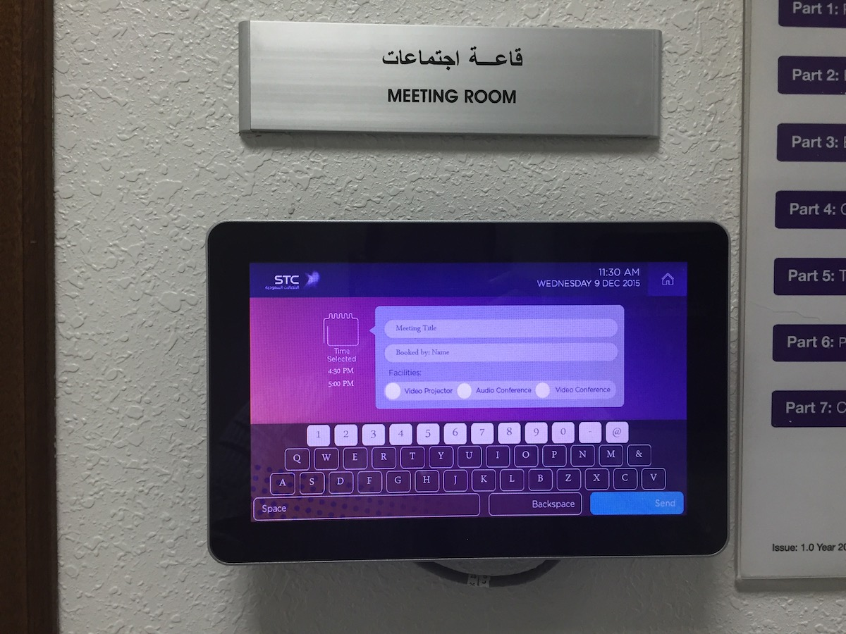 Meeting room instant booking appspace card