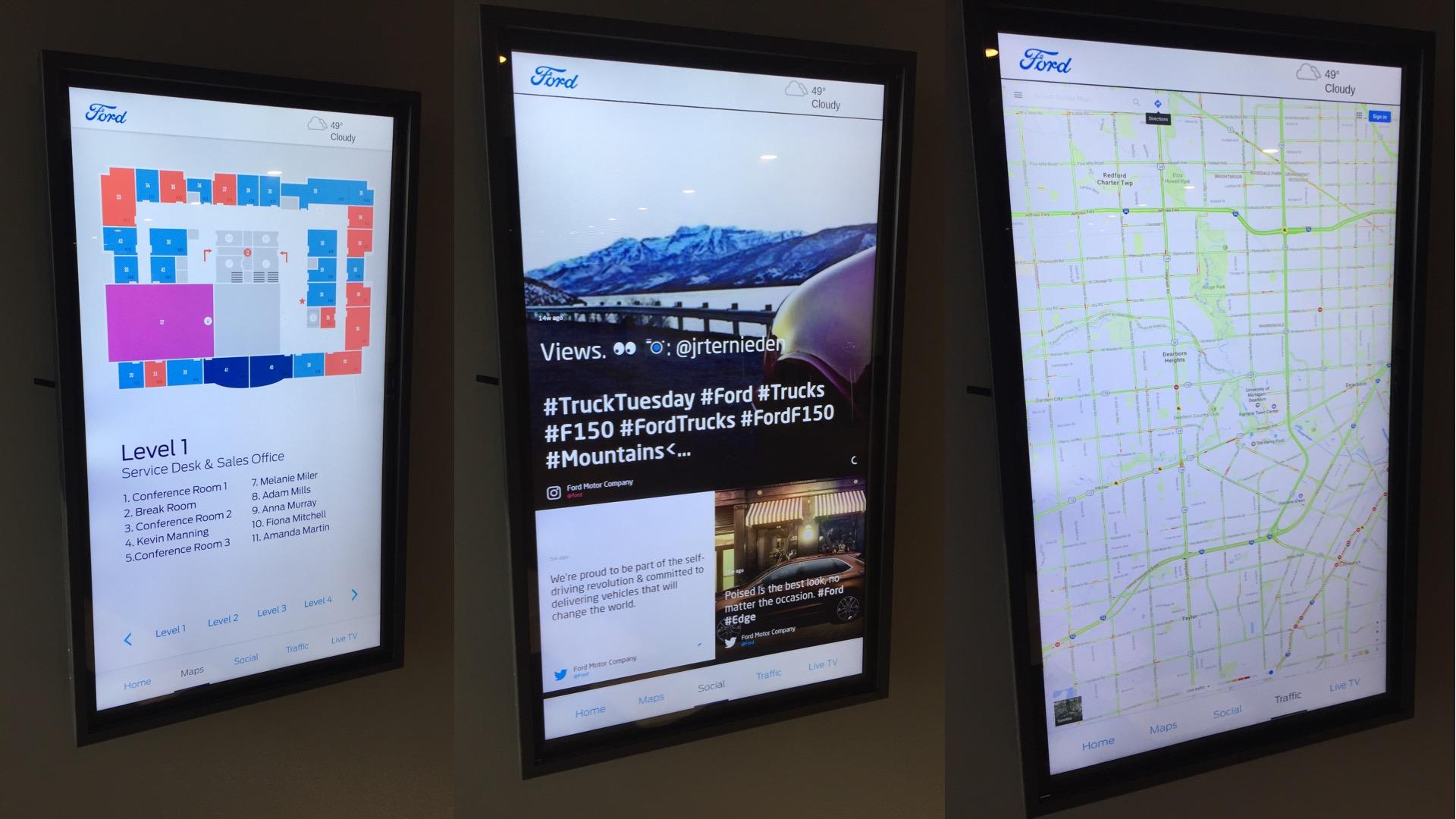 nec appspace kiosk google maps seenspire wayfinding