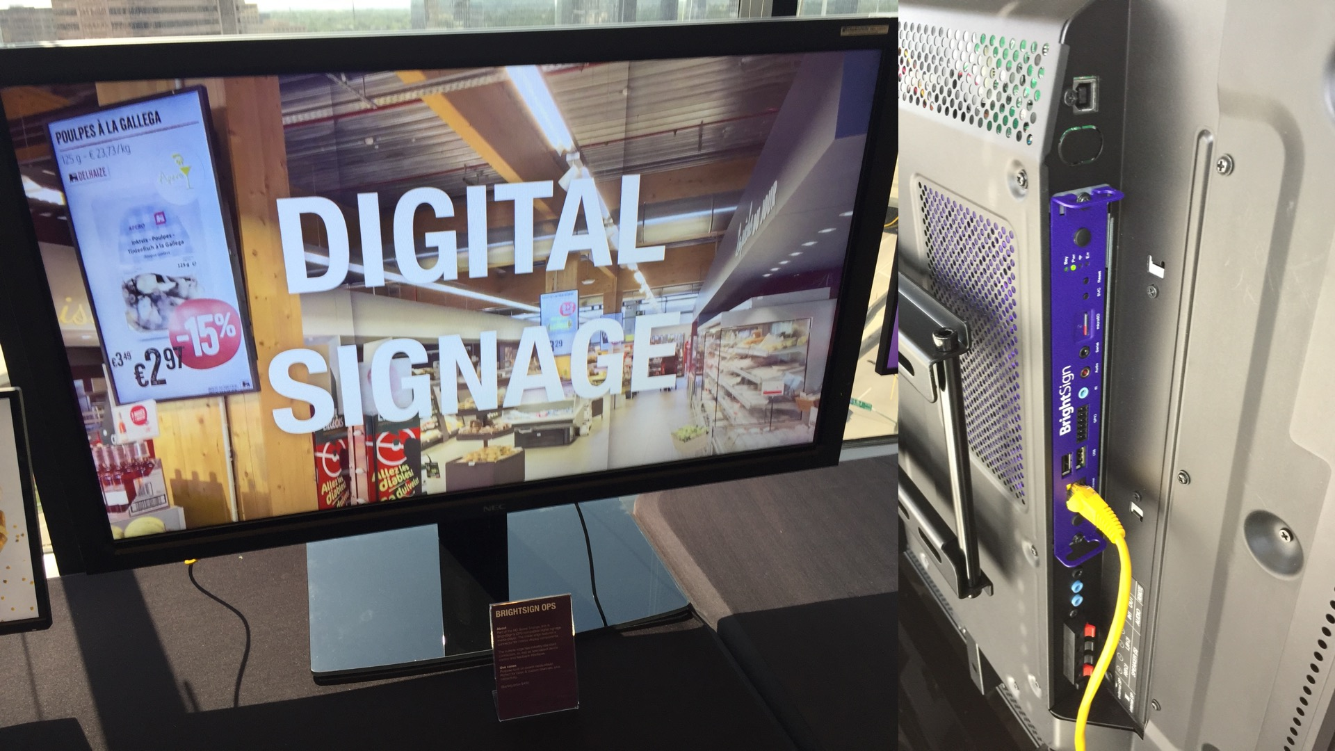 nec brightsign ops appspace showcase