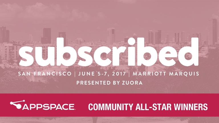 zuora subscribed community all-star winners