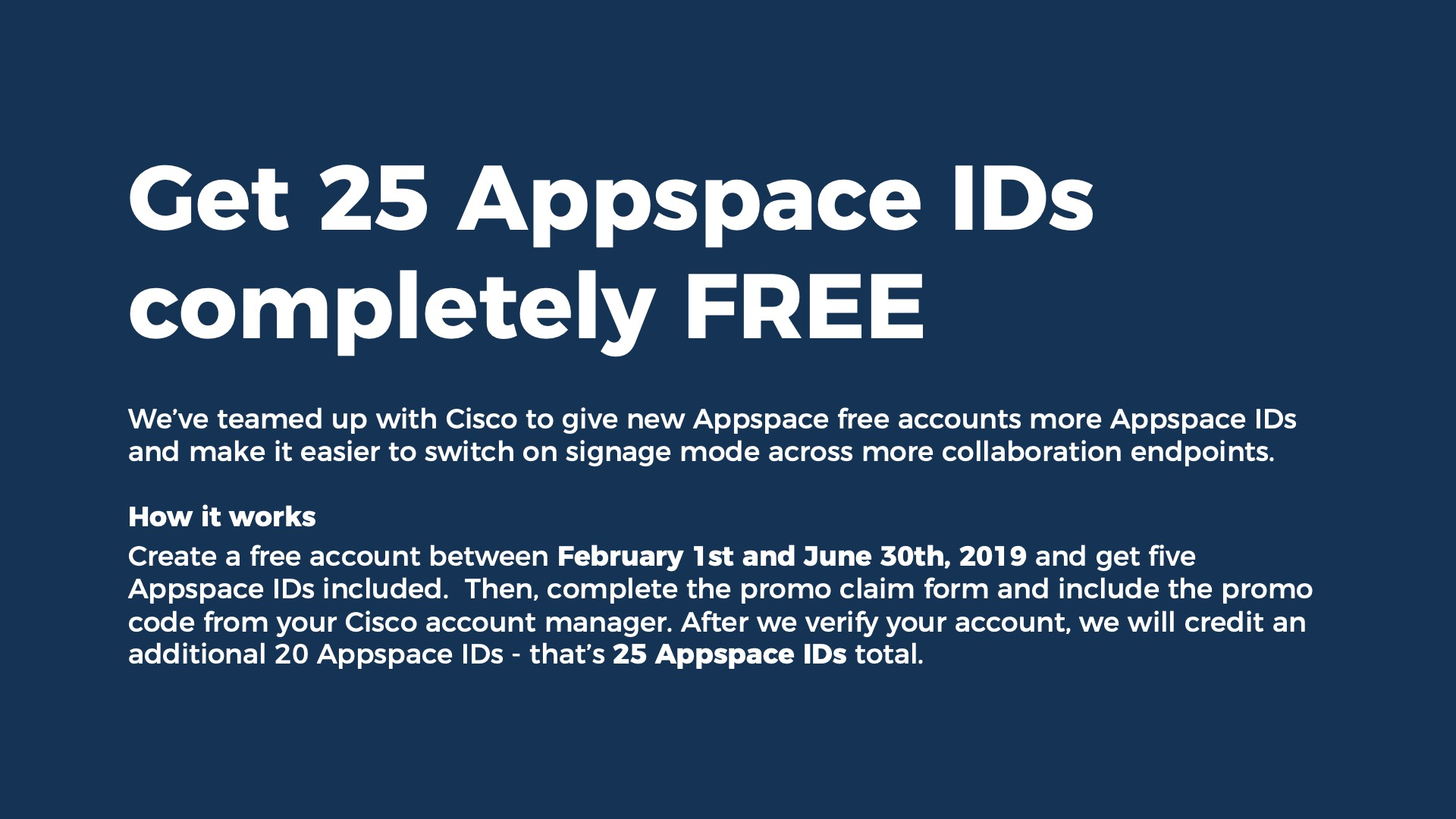 cisco collaboration promo appspace