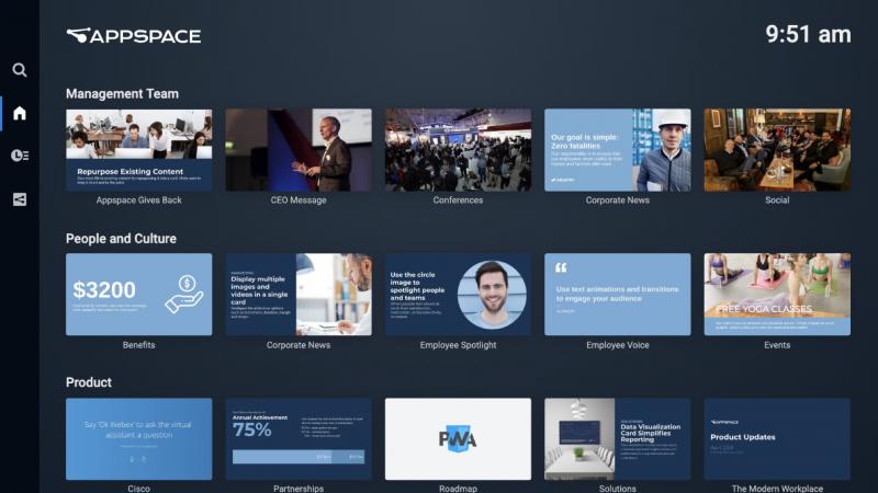 appspace app 2 menu